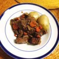 Beef bourgignonne
