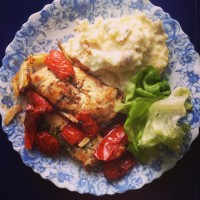 roasted chicken with tomatoes